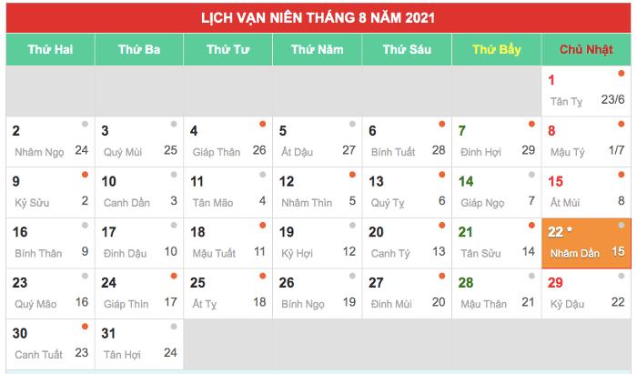 Tháng cô hồn năm 2021 kéo dài từ giữa tháng 8 đến tháng 9 dương lịch